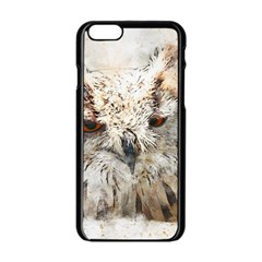 Bird Owl Animal Art Abstract Apple Iphone 6/6s Black Enamel Case by Celenk