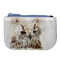 Bird Owl Animal Art Abstract Large Coin Purse by Celenk