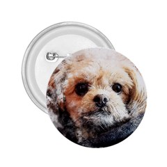 Dog Animal Pet Art Abstract 2 25  Buttons by Celenk