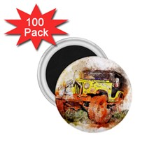 Car Old Car Fart Abstract 1 75  Magnets (100 Pack)  by Celenk