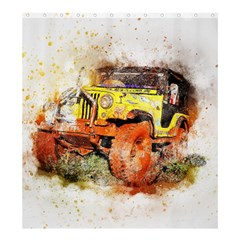 Car Old Car Fart Abstract Shower Curtain 66  X 72  (large)  by Celenk
