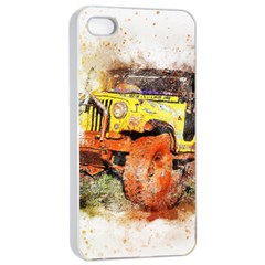 Car Old Car Fart Abstract Apple Iphone 4/4s Seamless Case (white) by Celenk