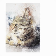 Cat Animal Art Abstract Watercolor Large Garden Flag (two Sides) by Celenk