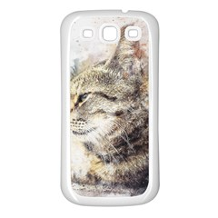 Cat Animal Art Abstract Watercolor Samsung Galaxy S3 Back Case (white) by Celenk