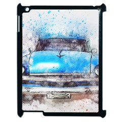 Car Old Car Art Abstract Apple Ipad 2 Case (black) by Celenk