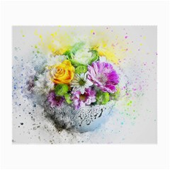 Flowers Vase Art Abstract Nature Small Glasses Cloth by Celenk