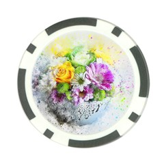 Flowers Vase Art Abstract Nature Poker Chip Card Guard by Celenk