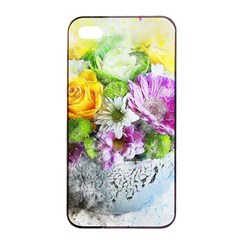 Flowers Vase Art Abstract Nature Apple Iphone 4/4s Seamless Case (black) by Celenk