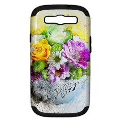 Flowers Vase Art Abstract Nature Samsung Galaxy S Iii Hardshell Case (pc+silicone) by Celenk