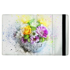 Flowers Vase Art Abstract Nature Apple Ipad 3/4 Flip Case by Celenk