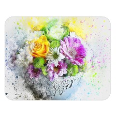 Flowers Vase Art Abstract Nature Double Sided Flano Blanket (large)  by Celenk