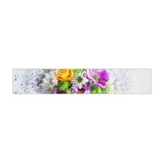 Flowers Vase Art Abstract Nature Flano Scarf (mini) by Celenk