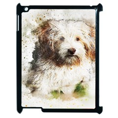 Dog Animal Pet Art Abstract Apple Ipad 2 Case (black) by Celenk