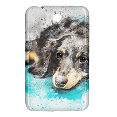 Dog Animal Art Abstract Watercolor Samsung Galaxy Tab 3 (7 ) P3200 Hardshell Case  by Celenk