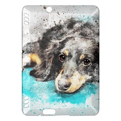 Dog Animal Art Abstract Watercolor Kindle Fire Hdx Hardshell Case