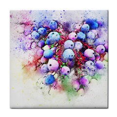 Berries Pink Blue Art Abstract Face Towel by Celenk