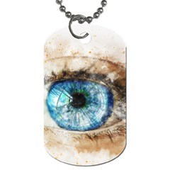 Eye Blue Girl Art Abstract Dog Tag (one Side) by Celenk