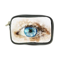Eye Blue Girl Art Abstract Coin Purse by Celenk