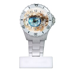 Eye Blue Girl Art Abstract Plastic Nurses Watch by Celenk