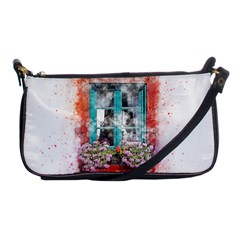 Window Flowers Nature Art Abstract Shoulder Clutch Bags by Celenk