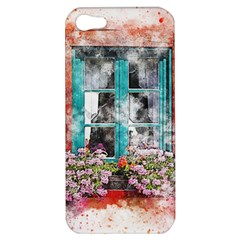 Window Flowers Nature Art Abstract Apple Iphone 5 Hardshell Case by Celenk