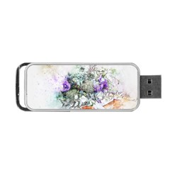 Flowers Bouquet Art Abstract Portable Usb Flash (two Sides) by Celenk