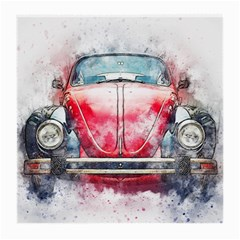 Red Car Old Car Art Abstract Medium Glasses Cloth by Celenk