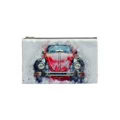 Red Car Old Car Art Abstract Cosmetic Bag (small)  by Celenk