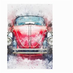 Red Car Old Car Art Abstract Small Garden Flag (two Sides) by Celenk