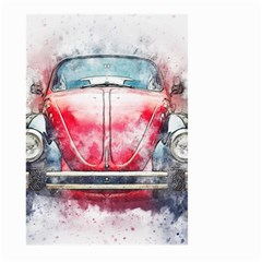 Red Car Old Car Art Abstract Large Garden Flag (two Sides) by Celenk