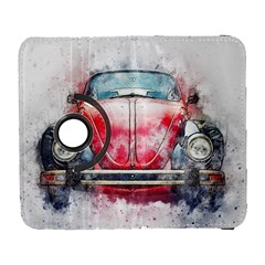 Red Car Old Car Art Abstract Galaxy S3 (flip/folio) by Celenk
