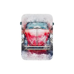 Red Car Old Car Art Abstract Apple Ipad Mini Protective Soft Cases by Celenk