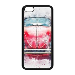 Red Car Old Car Art Abstract Apple Iphone 5c Seamless Case (black) by Celenk