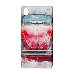 Red Car Old Car Art Abstract Sony Xperia Z3+ by Celenk