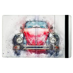 Red Car Old Car Art Abstract Apple Ipad Pro 12 9   Flip Case by Celenk