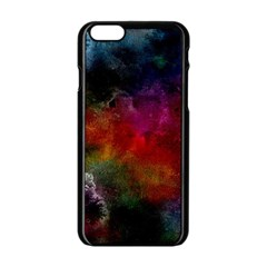 Abstract Picture Pattern Galaxy Apple Iphone 6/6s Black Enamel Case by Celenk