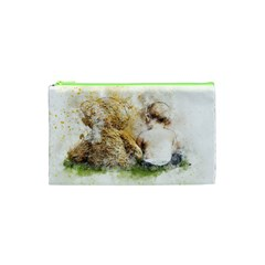 Bear Baby Sitting Art Abstract Cosmetic Bag (xs) by Celenk