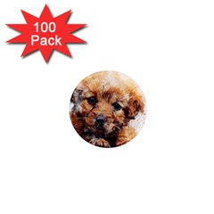 Dog Puppy Animal Art Abstract 1  Mini Magnets (100 Pack)  by Celenk