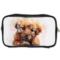 Dog Puppy Animal Art Abstract Toiletries Bags by Celenk