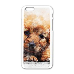 Dog Puppy Animal Art Abstract Apple Iphone 6/6s White Enamel Case by Celenk