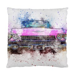 Pink Car Old Art Abstract Standard Cushion Case (one Side) by Celenk