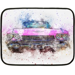 Pink Car Old Art Abstract Double Sided Fleece Blanket (mini)  by Celenk