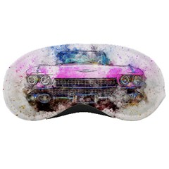 Pink Car Old Art Abstract Sleeping Masks by Celenk
