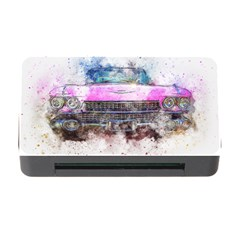 Pink Car Old Art Abstract Memory Card Reader With Cf by Celenk