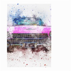 Pink Car Old Art Abstract Small Garden Flag (two Sides) by Celenk
