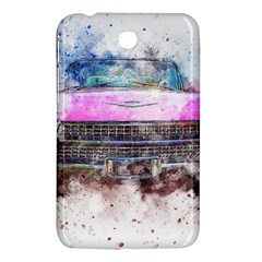 Pink Car Old Art Abstract Samsung Galaxy Tab 3 (7 ) P3200 Hardshell Case  by Celenk