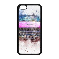Pink Car Old Art Abstract Apple Iphone 5c Seamless Case (black) by Celenk
