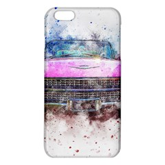 Pink Car Old Art Abstract Iphone 6 Plus/6s Plus Tpu Case by Celenk