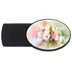 Flowers Bouquet Art Abstract Usb Flash Drive Oval (2 Gb) by Celenk