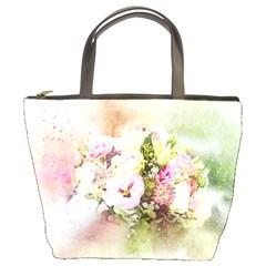 Flowers Bouquet Art Abstract Bucket Bags by Celenk